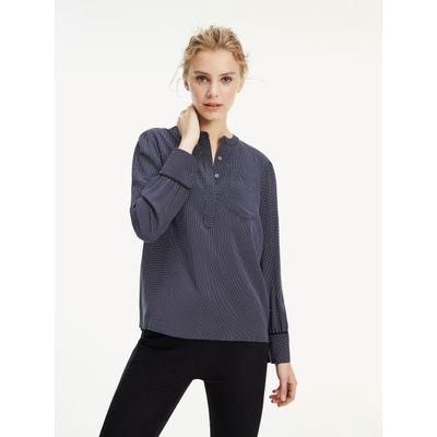 Blusa-Essential-De-Corte-Amplio-Y-Media-Botonadura-Tommy-Hilfiger