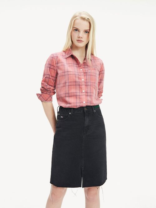 Camisa-de-Pana-y-Cuadros-de-Corte-Regular