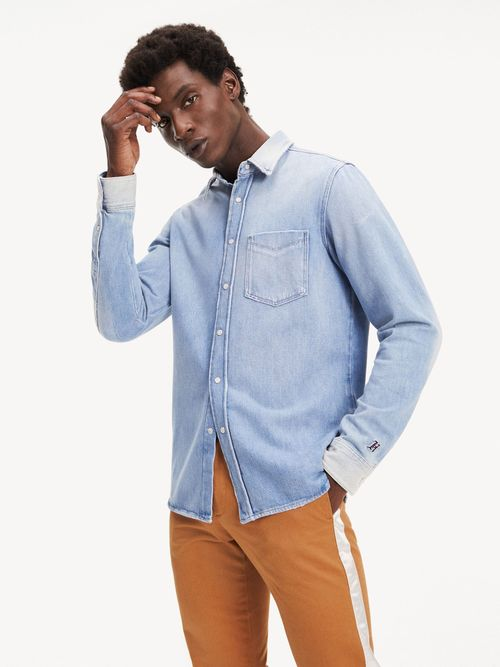 Camisa-de-Mezclilla-Lewis-Hamilton-de-Algodon-Organico