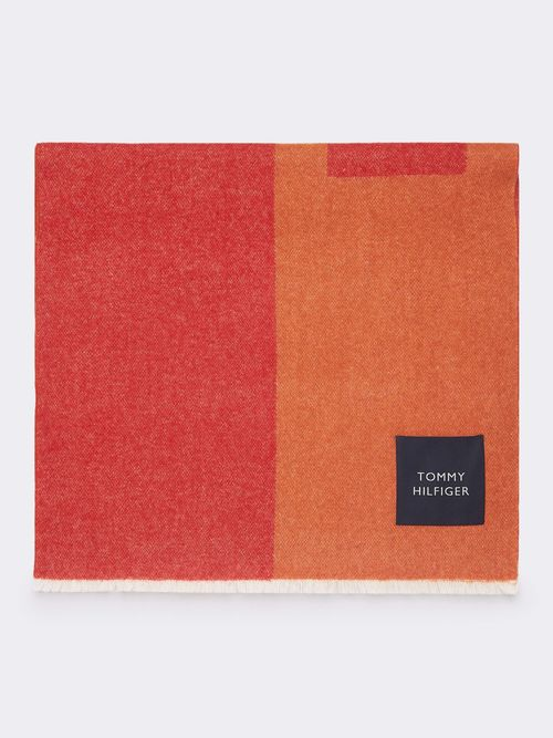 Bufanda-Manta-Color-Block-con-Parche-de-Piel