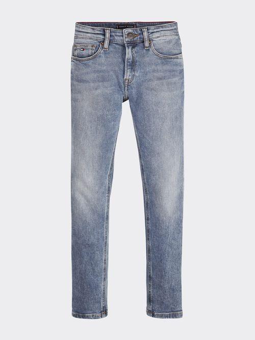 Jeans-de-Corte-Slim-con-Pernera-Conica