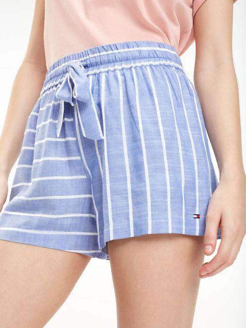 Shorts-de-Rayas-con-Lazo-en-La-Cintura