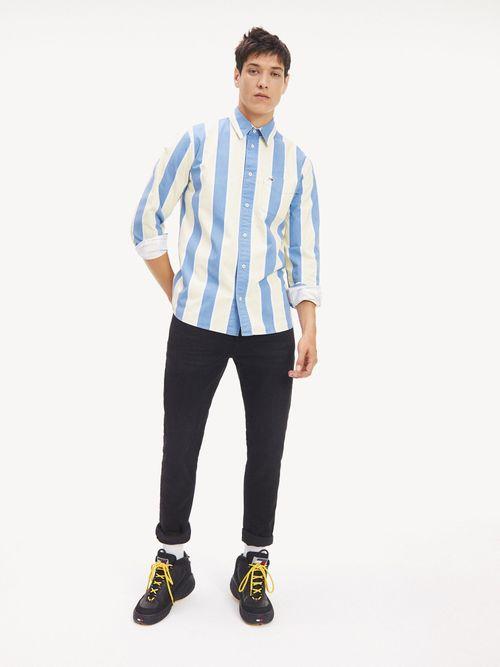 Camisa-de-Rayas-Retro-y-Corte-Ancho