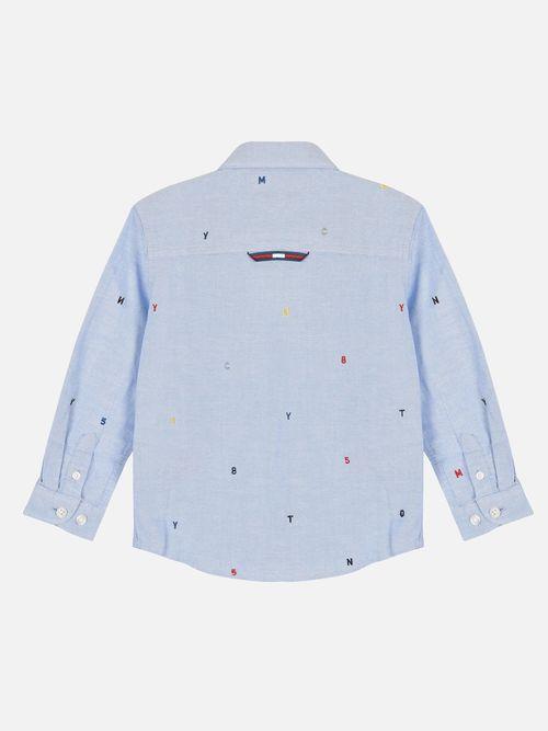 Camisa-con-Letras-Bordadas