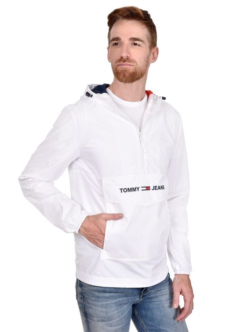 Chamarra-Impermeable-Con-Media-Cremallera-Y-Capucha-Tommy-Hilfiger