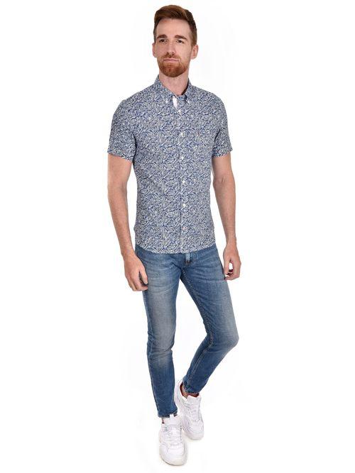 Camisa-De-Manga-Corta-Con-Estampado-Botanico-Tommy-Hilfiger