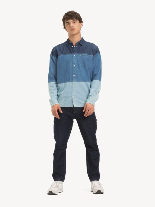 Camisa-de-Mezclilla-con-Diseño-de-Color-Block-Tommy-Hilfiger