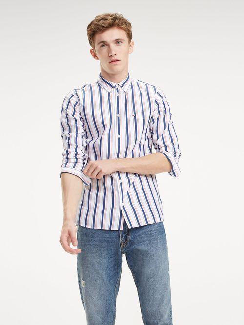 Camisa-de-Algodon-con-Rayas-Mixtas---tienda-en-linea-Tommy-Hilfiger-Mexico