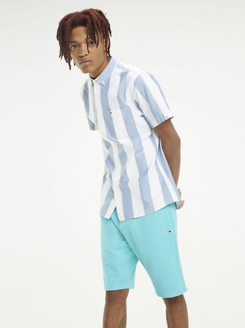 Camisa-Oxford-de-Rayas-y-manga-Corta---tienda-en-linea-Tommy-Hilfiger-Mexico