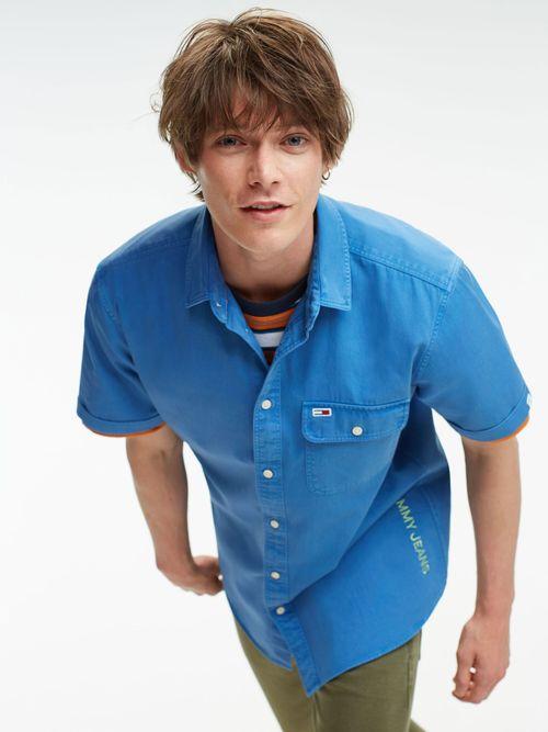 Camisa-de-Sarga-con-Bolsillo---tienda-en-linea-Tommy-Hilfiger-Mexico
