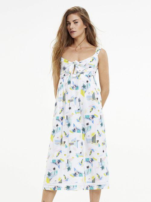 Vestido-de-Viscosa-con-Estampado-Tropical---tienda-en-linea-Tommy-Hilfiger-Mexico