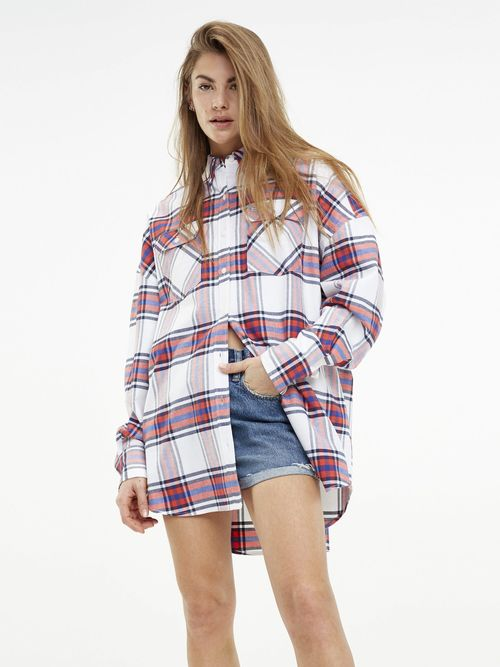 Camisa-Boyfriend-de-Cuadros-Mixtos---tienda-en-linea-Tommy-Hilfiger-Mexico