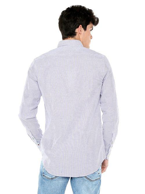 Camisa-de-Algodon-Elastico-y-Corte-Slim---tienda-en-linea-Tommy-Hilfiger-Mexico