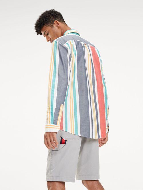 Camisa-de-Puro-Algodon-con-Rayas-Multicolores---tienda-en-linea-Tommy-Hilfiger-Mexico