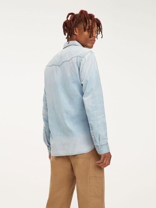 Camisa-de-Tejido-denim-Western---tienda-en-linea-Tommy-Hilfiger-Mexico