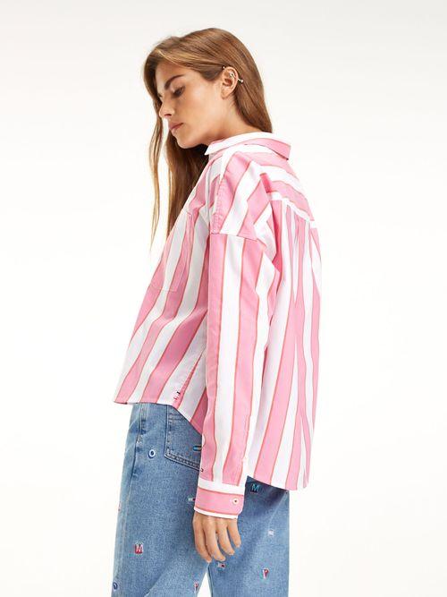 Camisa-Cropped-de-Rayas---tienda-en-linea-Tommy-Hilfiger-Mexico