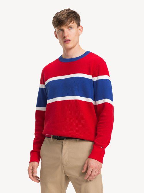 Sueter-con-Diseño-Color-Block-y-Cuello-Redondo-Tommy-Hilfiger