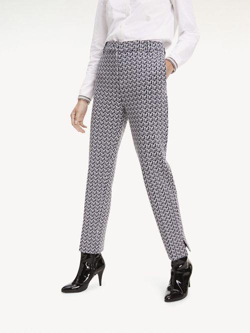Pantalon-Tobillero-Estampado-Con-Cintura-Alta-Tommy-Hilfiger