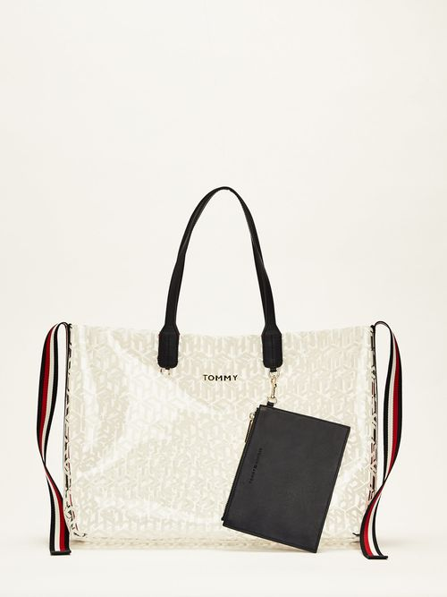 Bolsa -tote-Tommy-Icons-transparente-Tommy-Hilfiger