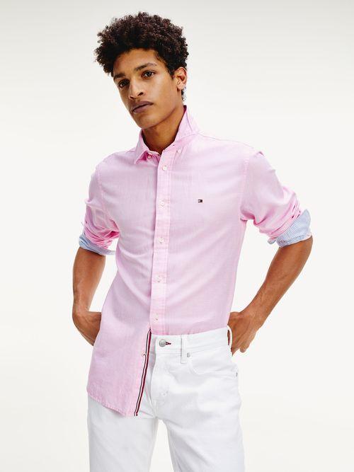 Camisa-en-sarga-de-lino-y-algodon-Tommy-Hilfiger