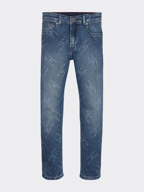 Jeans-Rey-amplios-con-estampado-de-logo-Tommy-Hilfiger