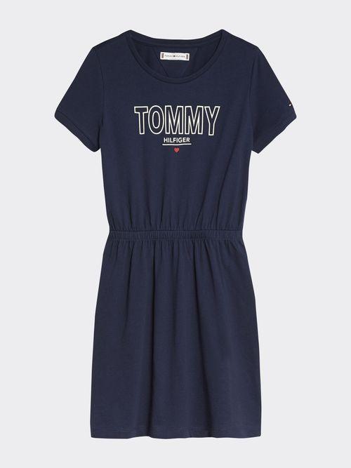 Vestido-Playera -de-algodon-organico-con-logo-Tommy-Hilfiger
