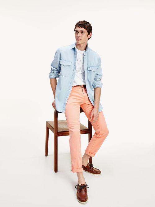 Camisa-de-algodon-organico-con-bolsillos-Tommy-Hilfiger
