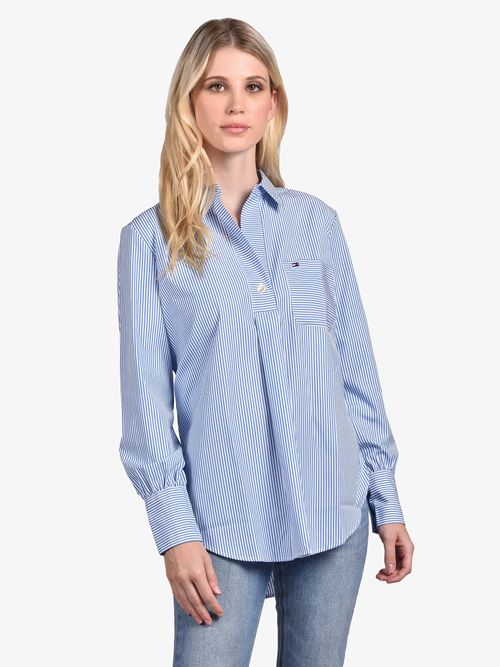 Camisa-de-popelin-con-corte-girlfriend-Tommy-Hilfiger