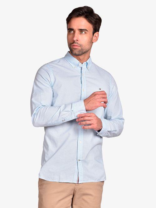 Camisa-con-microestampado-de-pata-de-gallo-Tommy-Hilfiger