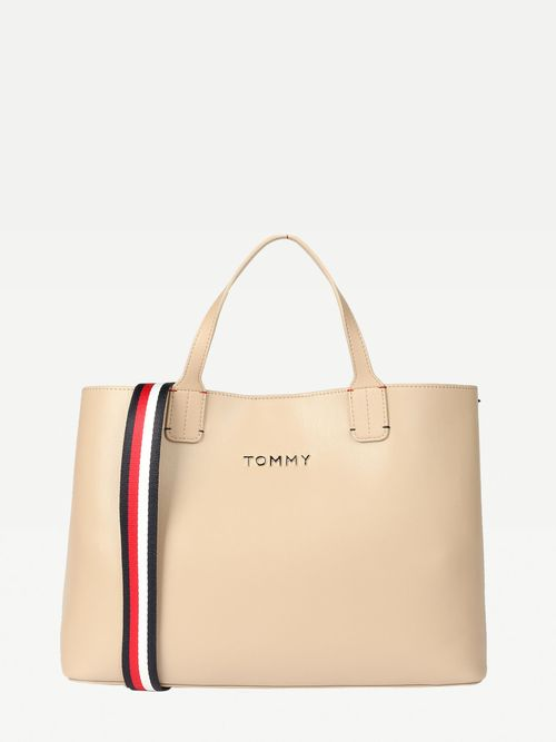 BOLSO-SATCHEL-ICONIC-CON-LOGO-METALICO-Y-MULTIPLES-CORREAS-Tommy-Hilfiger