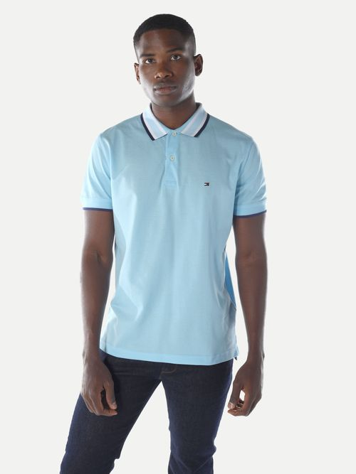 POLO-COLOR-AZUL-REGULAR-FIT-LINEAS-CUELLO-Tommy-Hilfiger
