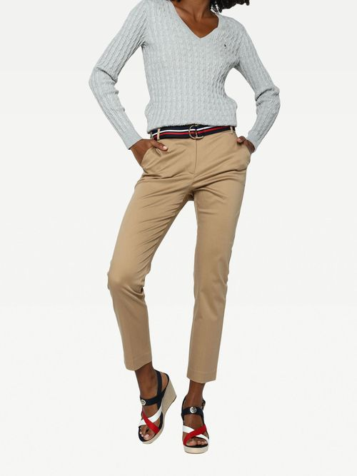 PANTALON-COLOR-BEIGE-LISO-Tommy-Hilfiger