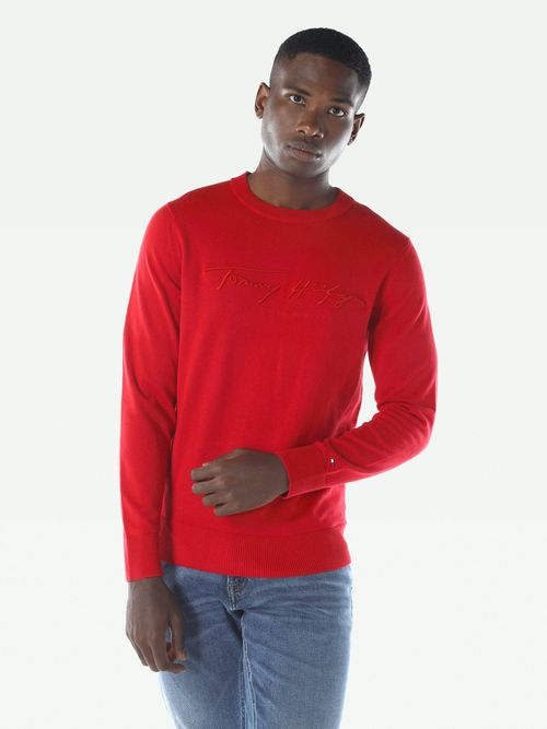 SUETER-COLOR-ROJO-LOGO-RELIEVE-Tommy-Hilfiger