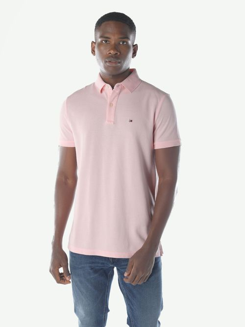 POLO-COLOR-ROSA-CUSTOM-FIT-BASICA-Tommy-Hilfiger