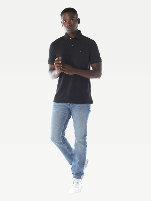 POLO-COLOR-NEGRO-CUSTOM-FIT-BASICA-Tommy-Hilfiger