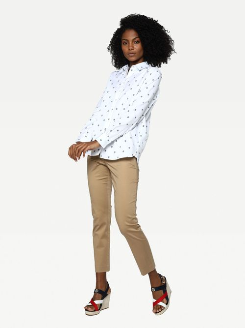 CAMISA-COLOR-BLANCO-RELAXED-FIT-LOGO-Tommy-Hilfiger