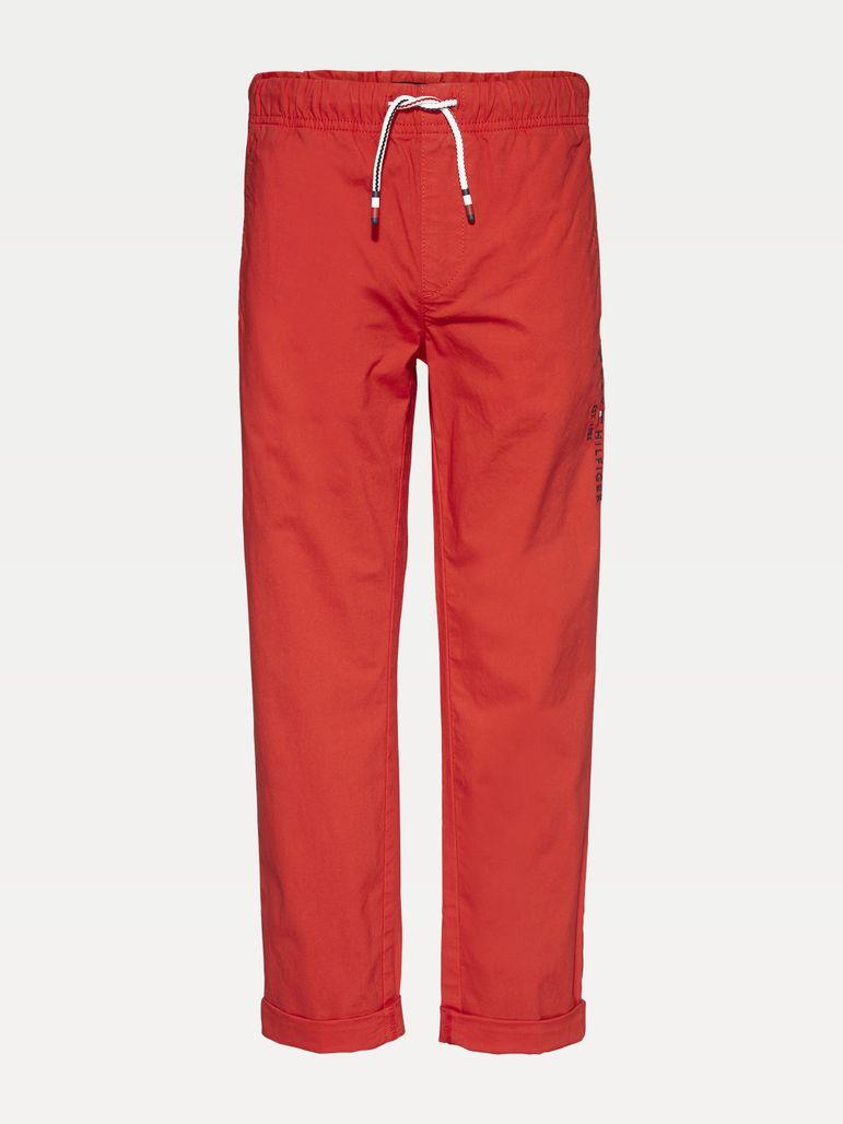 Pantalon Con Cintura Elastica Y Logo Para Nino Tommy Hilfiger Tienda En Linea