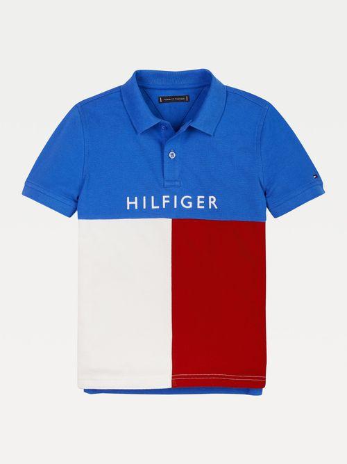 POLO-COLOR-BLOCK-DE-ALGODON-ORGANICO-PARA-NIÑO-Tommy-Hilfiger