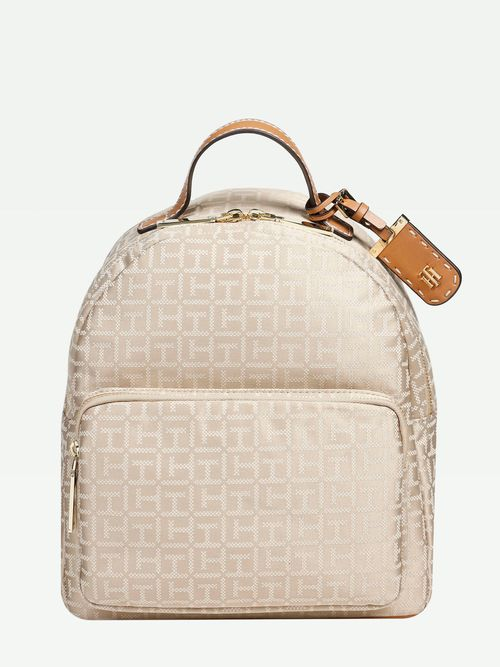 BACKPACK-COLOR-BEIGE-MONOGRAMA-Tommy-Hilfiger