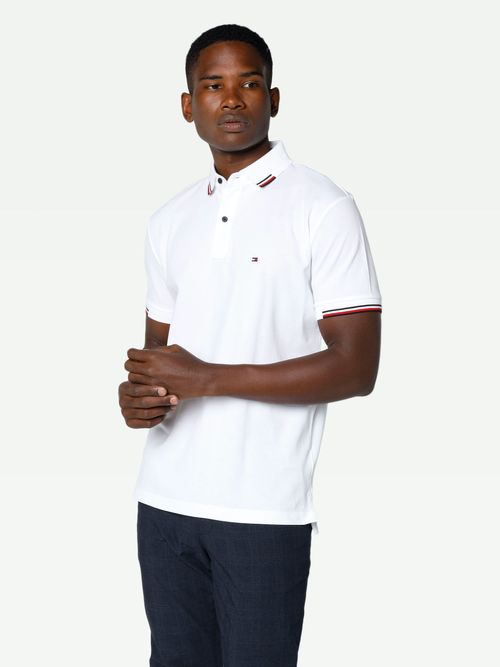 POLO-COLOR-BLANCO-REGULAR-FIT-LINEAS-CARDIGAN-Tommy-Hilfiger