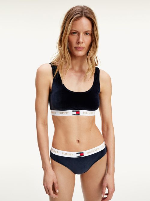 Bralette-de-velour-con-banda-inferior-con-inscripcion-Tommy-Hilfiger