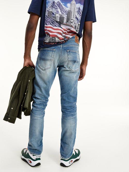 Jeans-Scanton-ajustados-con-efecto-desgastado-y-lavado-Tommy-Hilfiger