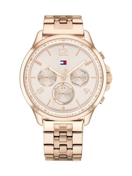 Reloj-biseleado-oro-rosado--Tommy-Hilfiger