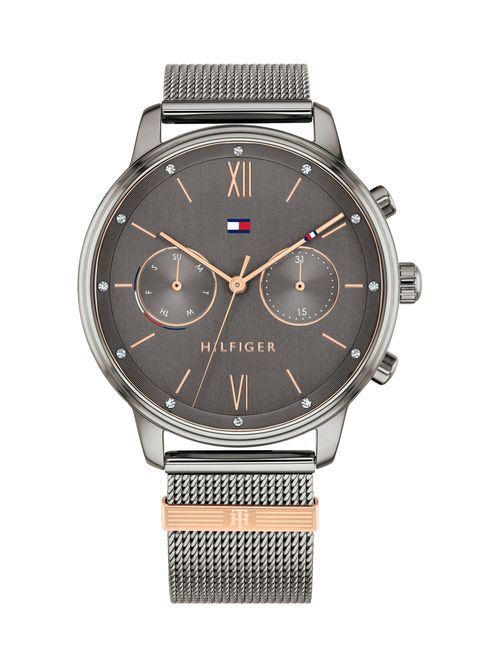 Reloj-metalico-trenzado-con-brillantes--Tommy-Hilfiger