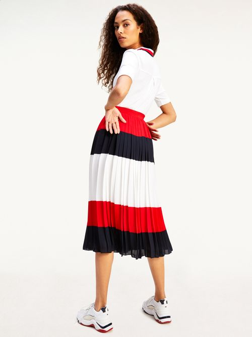 Falda-midi-plisada-con-diseño-color-block-Tommy-Hilfiger