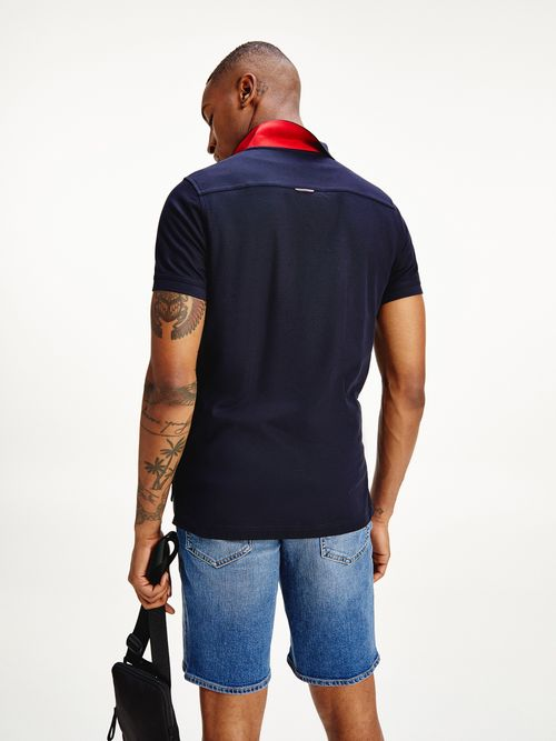 Polo-1985-con-tapeta-a-contraste-Tommy-Hilfiger
