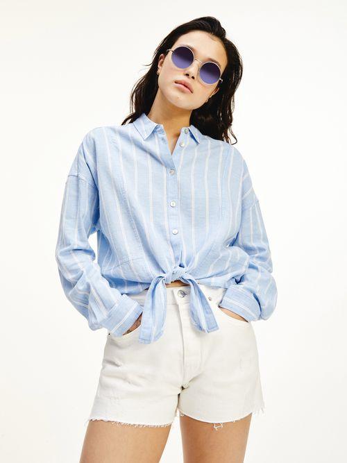 Camisa-de-rayas-con-lazo-anudable-Tommy-Hilfiger
