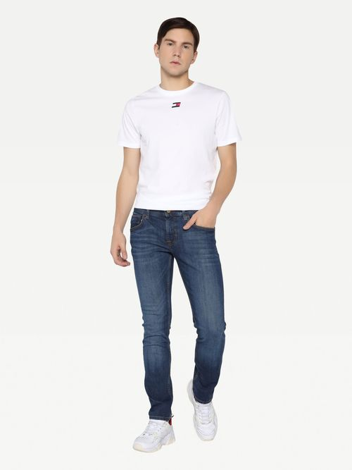 Jeans-rectos-Denton-de-mezclilla-obscura-Tommy-Hilfiger