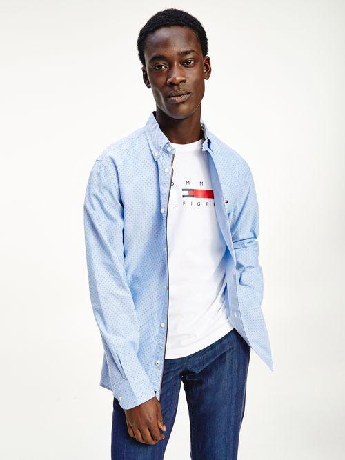 Camisa-Oxford-de-puntos-y-corte-regular-Tommy-Hilfiger