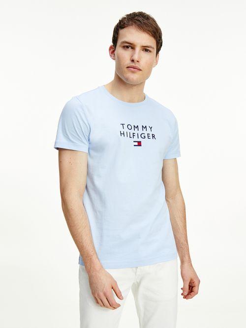 Playera-de-algodon-organico-con-logo-bordado-Tommy-Hilfiger